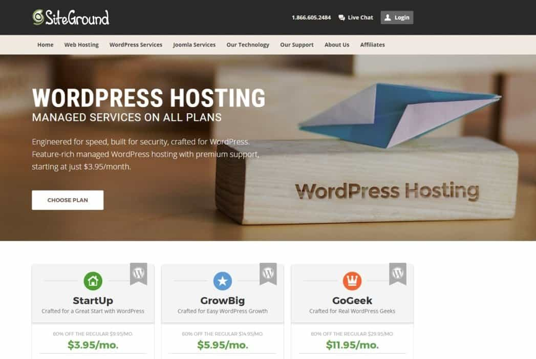 Hosting Siteground, Hosting Favorit Untuk Blogger