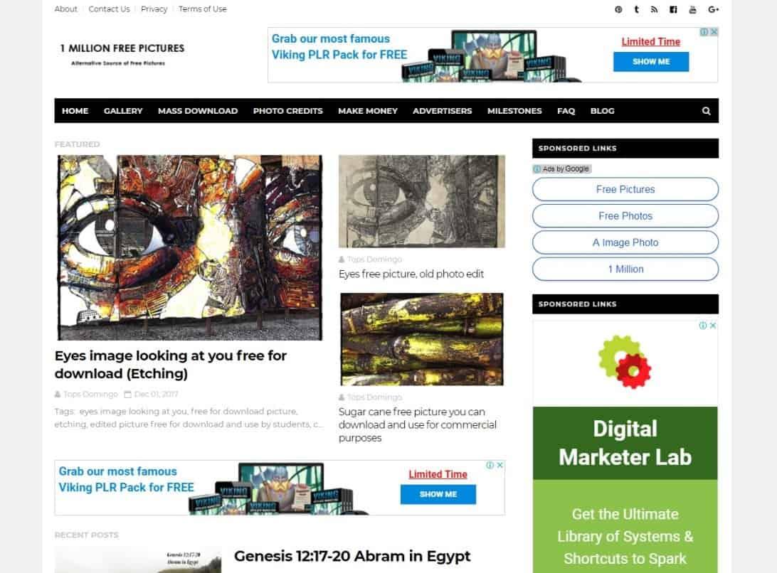 Website Tempat Download Gambar Gratis Untuk Blog 1 Millions Free Pictures