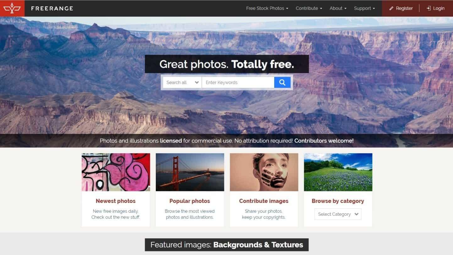 Website Tempat Download Gambar Gratis Untuk Blog Free Range Stock