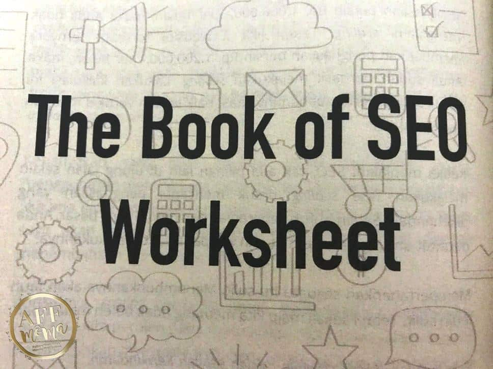 Review Buku The Book of SEO Rianto Astono The Book of SEO Worksheet