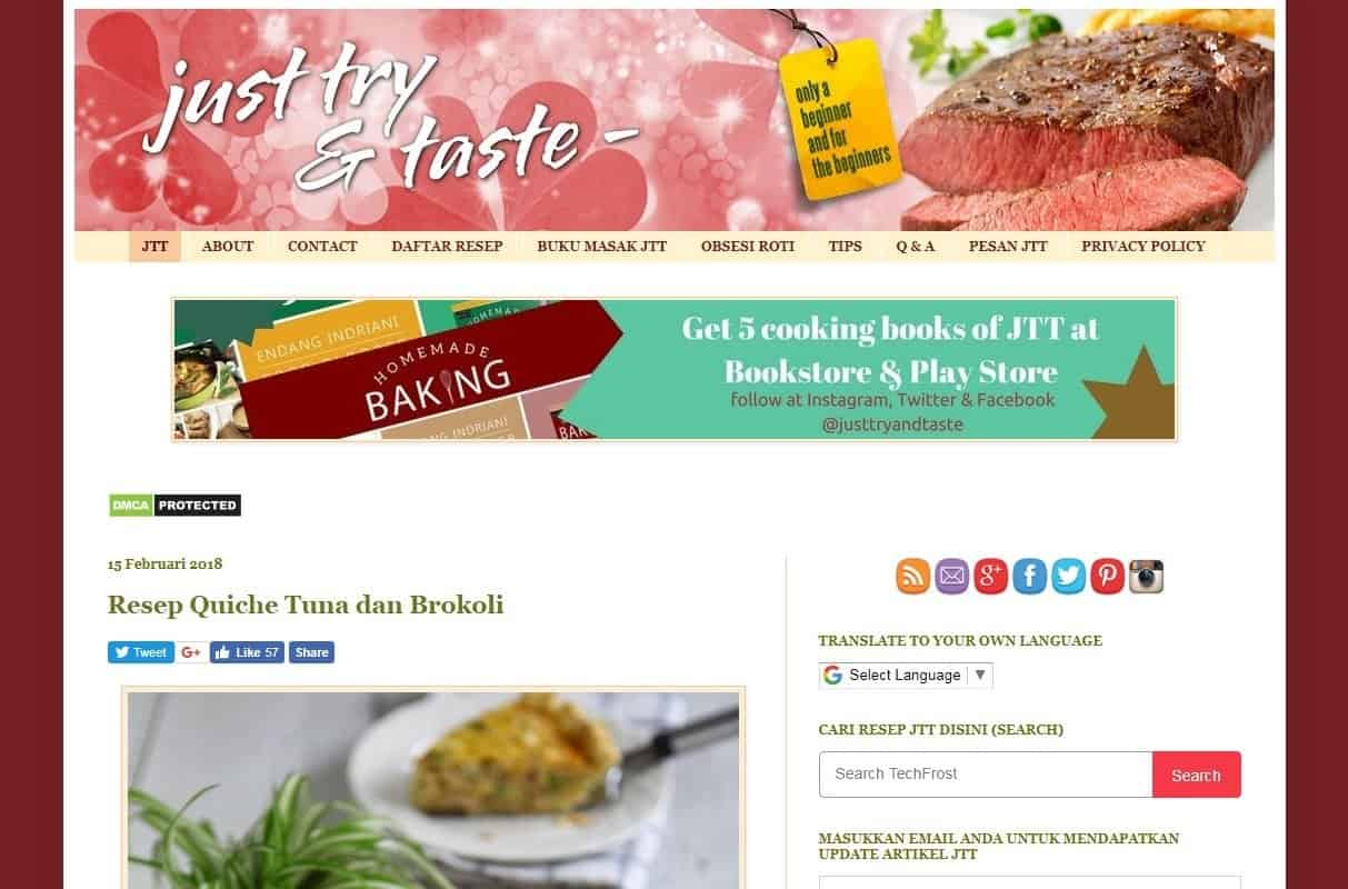 Blogger Perempuan Indonesia Just Try and Taste Endang Indriani