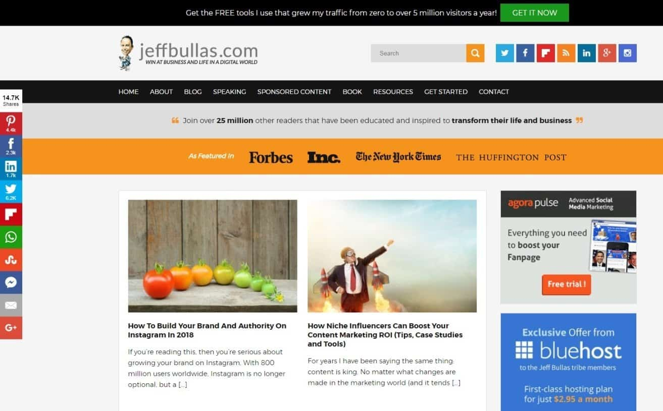 Blog Affiliate Marketing Jeff Bullas