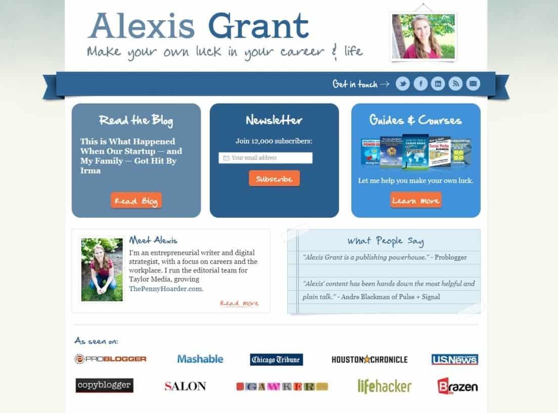 Blog Alexis Grant Internet Marketing