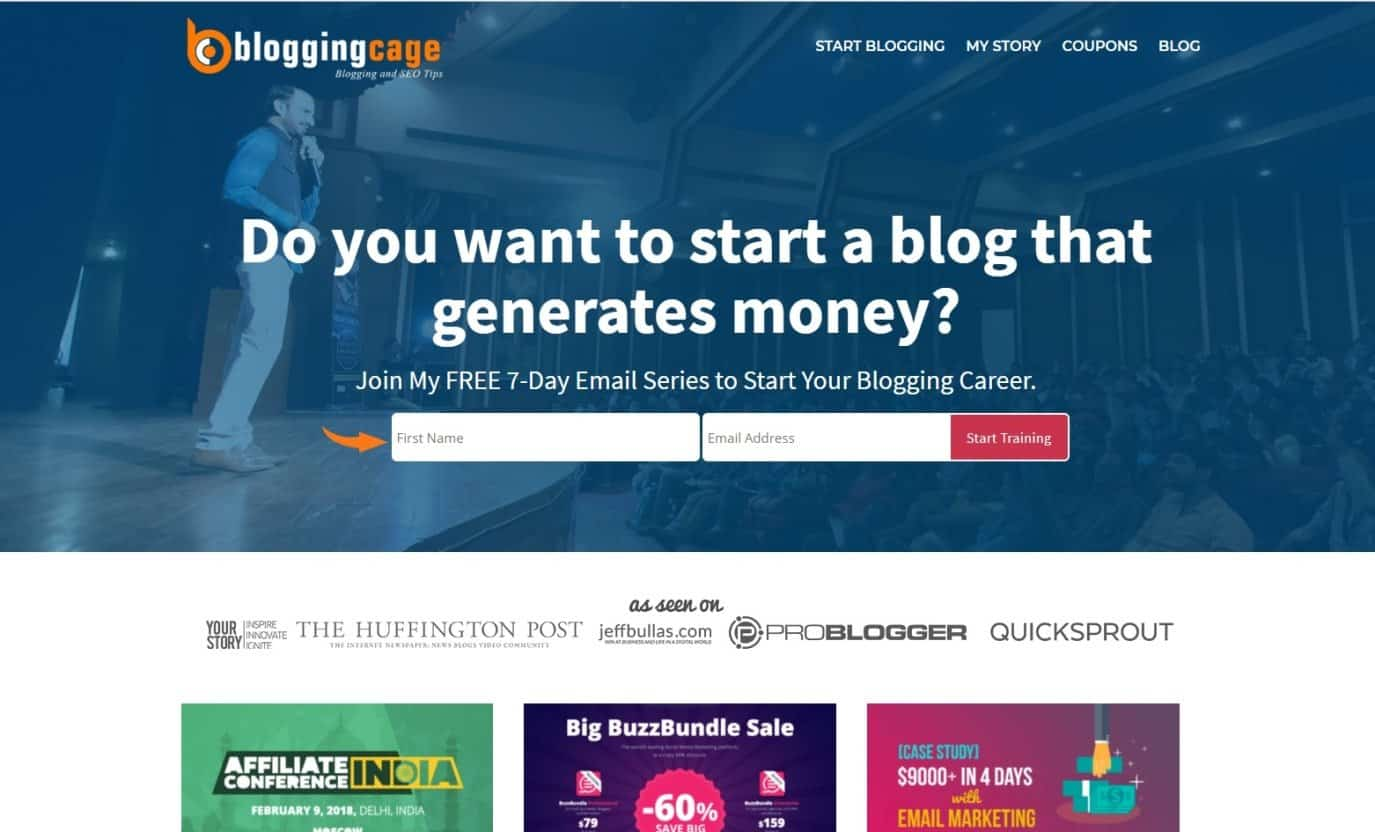 Blog Blogging Cage Affiliate Marketing