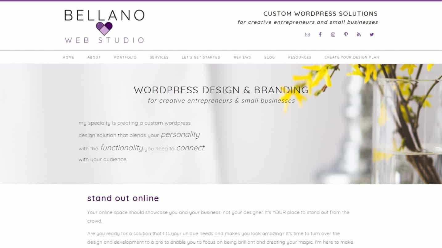 Tempat Beli Themes WordPress Premium Bellano Web Studio