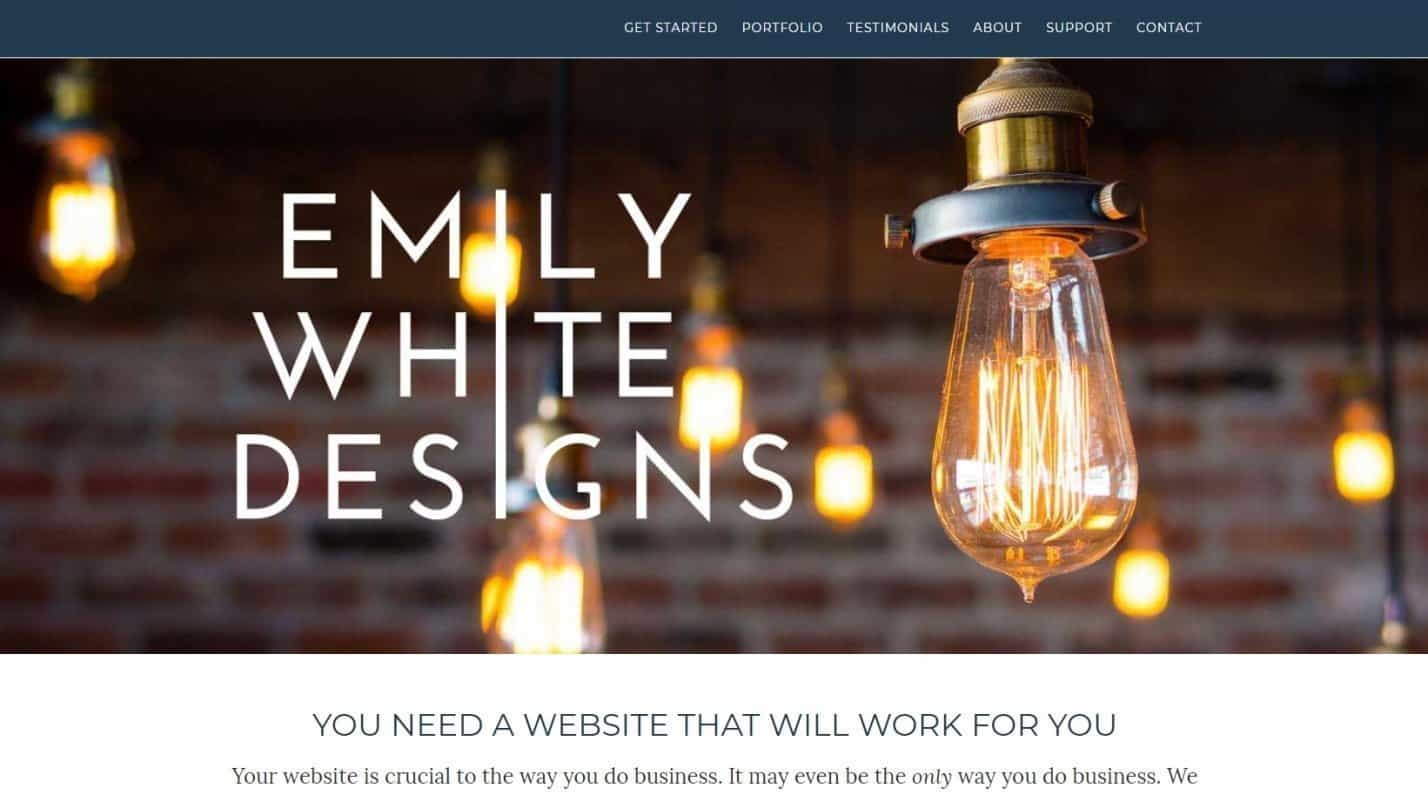 Tempat Beli Themes WordPress Premium Emily White Designs
