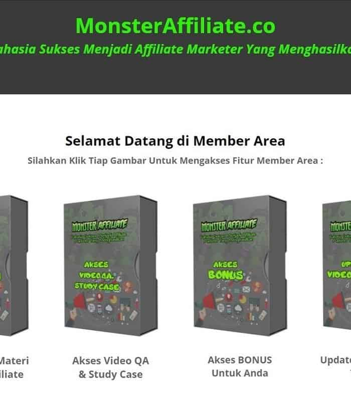 Review Monster Affiliate by Dewa Eka Prayoga dan Andrie Andropia