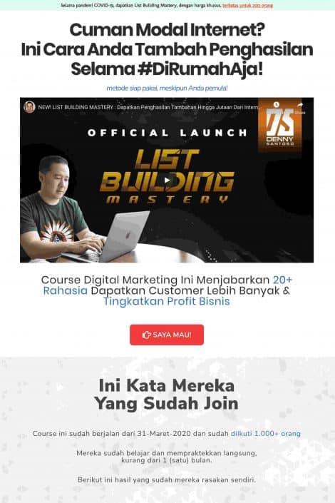 List Building Mastery Denny Santoso