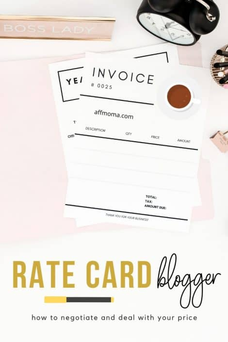 Rate Card Blogger